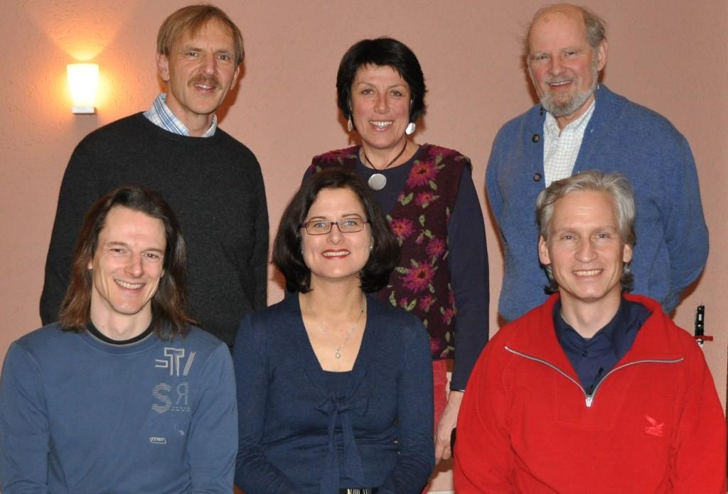Gerhard Hippmann, Gerhard Sailer, Astrid Kahle, Roswitha Schwimmer, Horst-Günter Heuck und Wolfgang Frieß