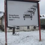 Plakat gegenüber dem Gasthof Zur Post