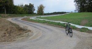 Südliche Zufahrt des neuen Geh- und Radwegs