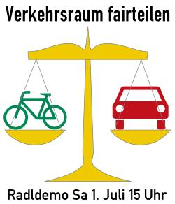 Radldemo Verkehrsraum fairteilen